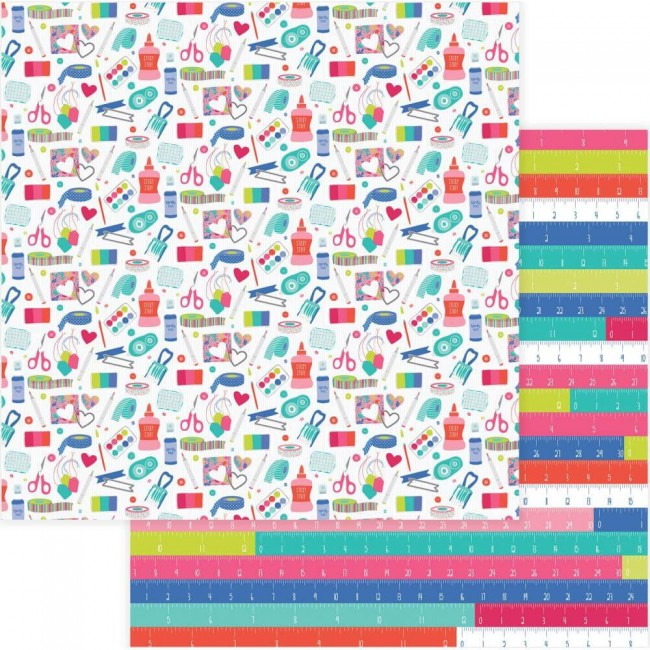 Papel Estampado Doble Cara 12x12 You Had Me At Paper Stash