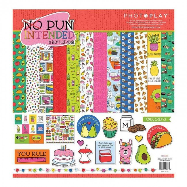 Kit Papeles Estampados 12x12 No Pun Intended