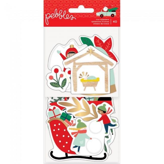 Die Cuts Merry Little Christmas Icons