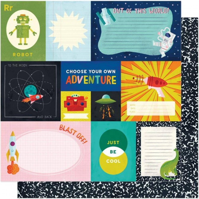 Papel Estampado Doble Cara 12x12 Field Trip Shimelle Choose Adventure