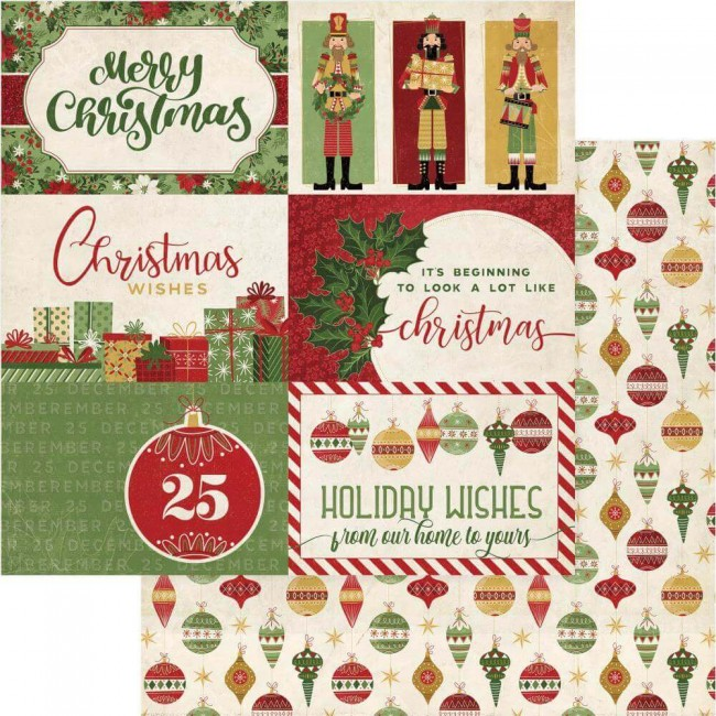 Papel Estampado Doble Cara 12x12 Christmas Memories Holiday Wishes