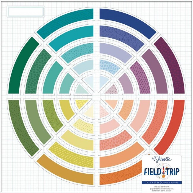 Papel Estampado Una Cara 12x12 Field Trip Shimelle Color Wheel