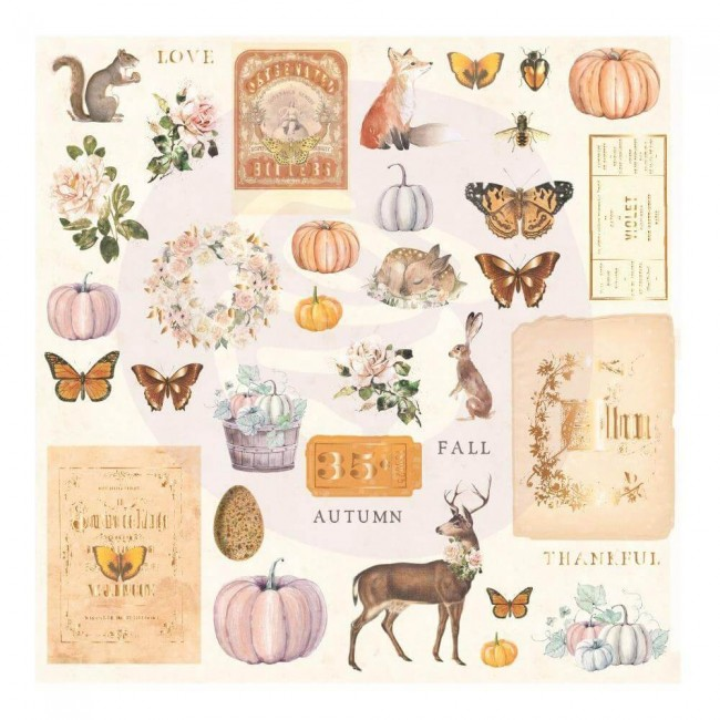 Die Cuts Autumn Sunset 36 piezas Shapes, Tags, Words