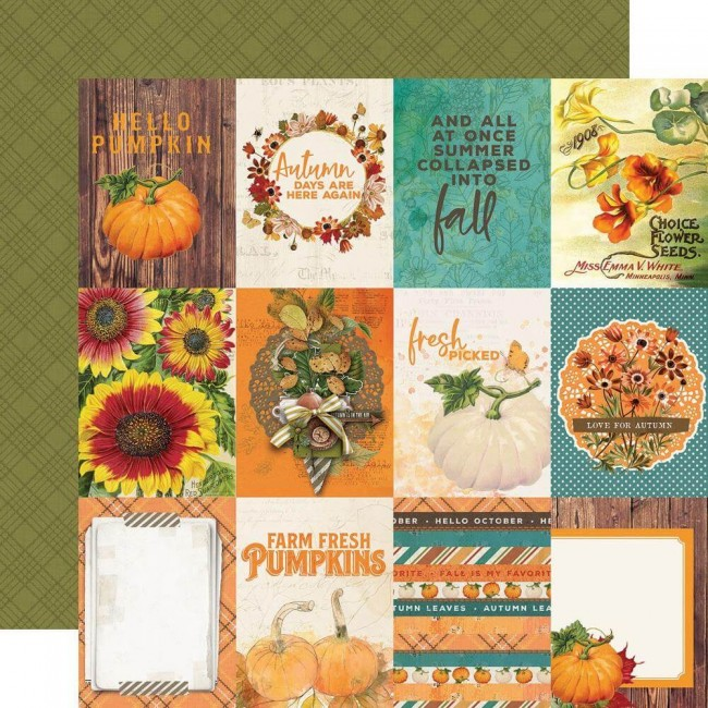 Papel Estampado Doble Cara 12x12 Autumn Splendor 3x4 Elements