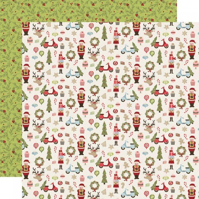 Papel Estampado Doble Cara 12x12 Holly Jolly Oh What Fun