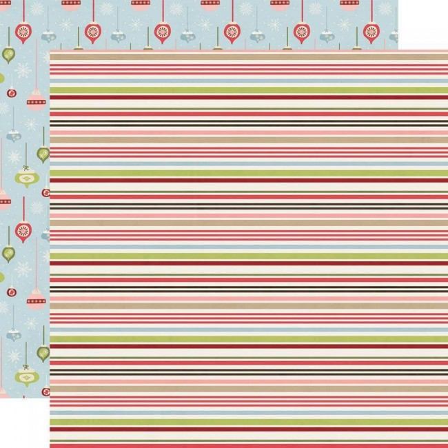 Papel Estampado Doble Cara 12x12 Holly Jolly Christmas Cheer