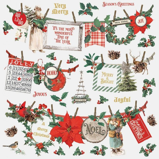 Pegatinas 12x12 Country Christmas Banners