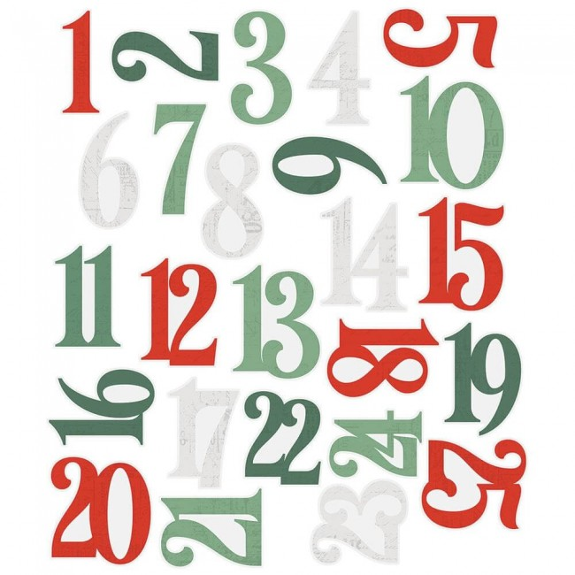 Die Cuts Country Christmas Bits & Pieces Numbers