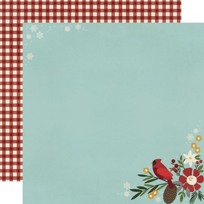 Papel Estampado Doble Cara 12x12 Winter Farmhouse Hello Winter