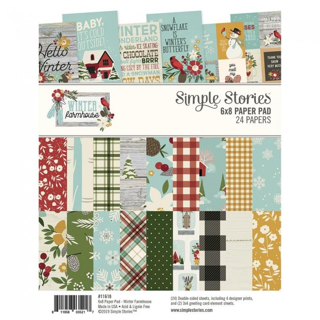 Stack Papeles Estampados 6x8 Winter Farmhouse