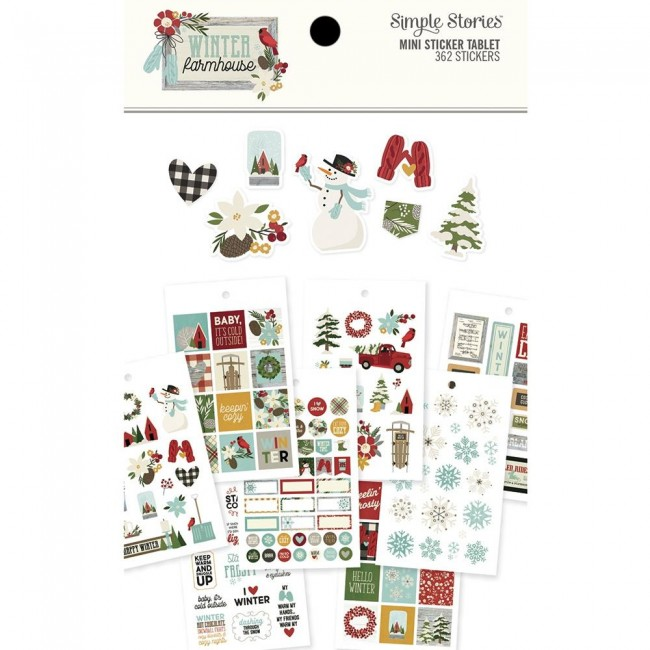Librillo de pegatinas Winter Farmhouse Mini