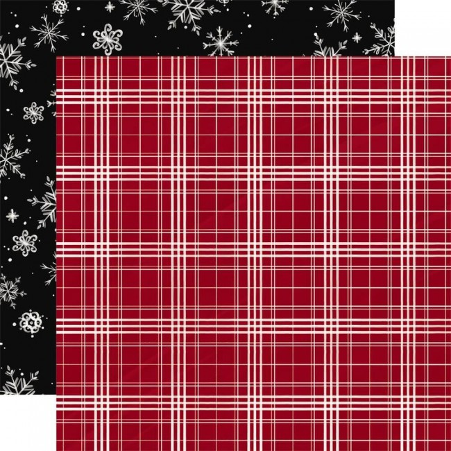 Papel Estampado Doble Cara 12x12 Christmas Market Christmas Plaid