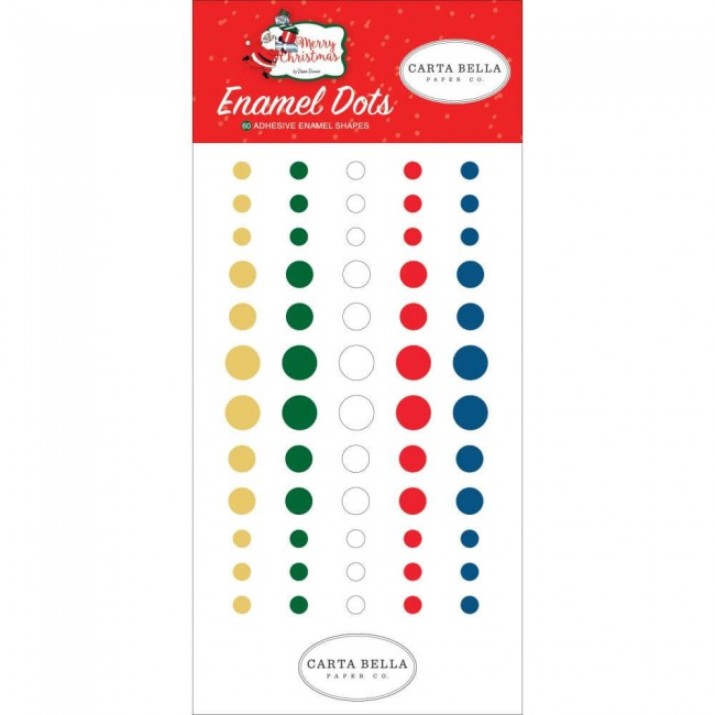 Enamel Dots Merry Christmas