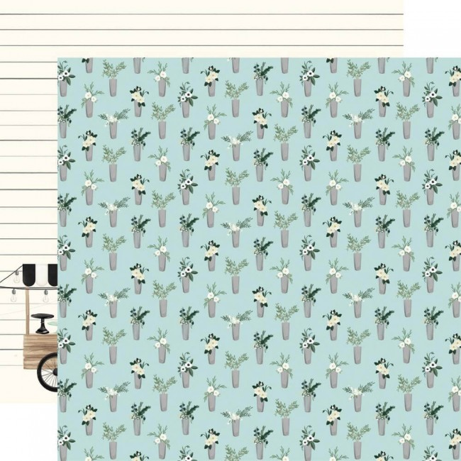 Papel Estampado Doble Cara 12x12 Home Again Vases