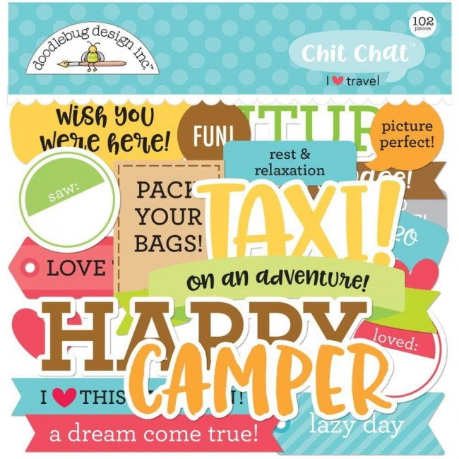 Die Cuts I Heart Travel Chit Chat