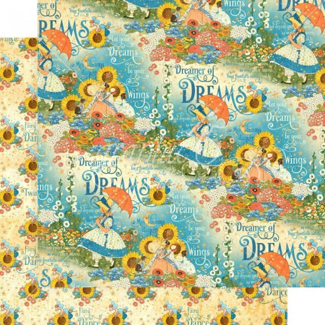 Papel Estampado Doble Cara 12x12 Dreamland Enchanted Garden
