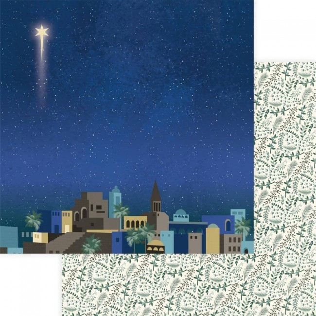 Papel Estampado Doble Cara 12x12 One Night In Bethlehem Bethlehem