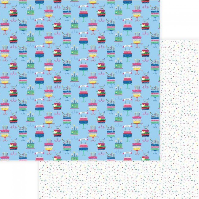 Papel Estampado Doble Cara 12x12 Confetti Eat Cake