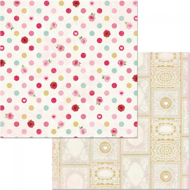 Papel Estampado Doble Cara 12x12 Count The Ways Kisses