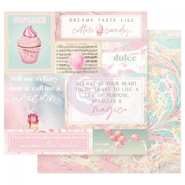 Papel Estampado Doble Cara 12x12 Dulce Fairy Dust