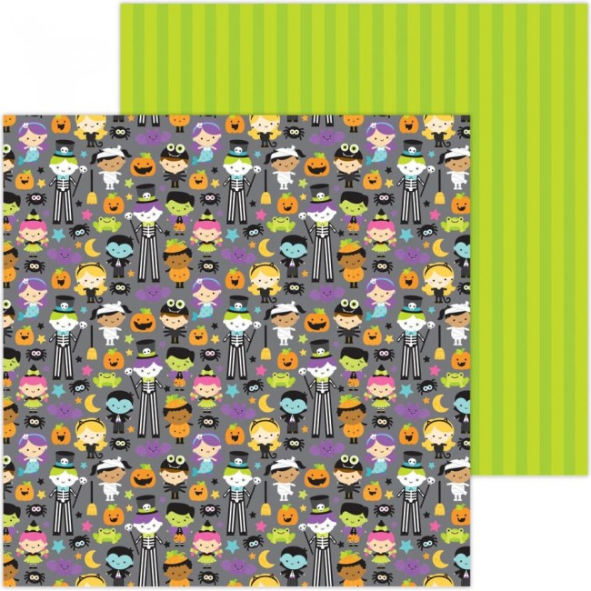 Papel Estampado Doble Cara 12x12 Candy Carnival Costume Contest