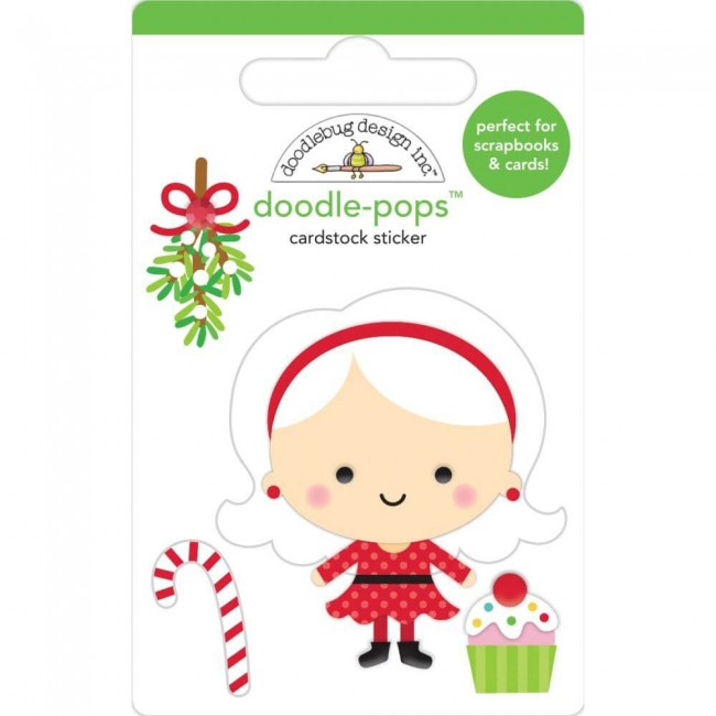 Pegatinas 3D Christmas Magic Mrs. Claus