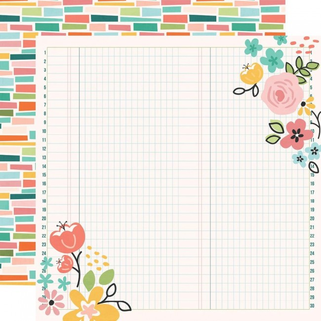 Papel Estampado Doble Cara 12x12 Hey, Crafty Girl Create Beauty