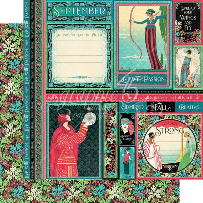 Papel Estampado Doble Cara 12x12 Fashion Forward September