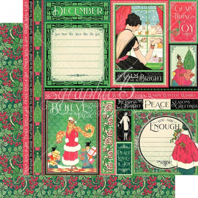 Papel Estampado Doble Cara 12x12 Fashion Forward December