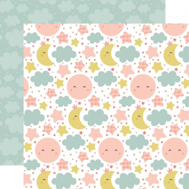 Papel Estampado Doble Cara 12x12 Baby Girl Dream Big