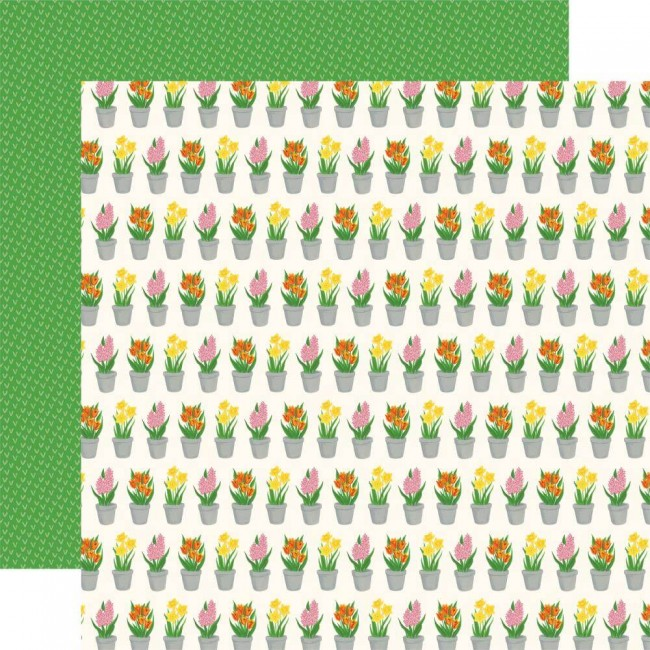 Papel Estampado Doble Cara 12x12 I love Spring Greenhouse Gifts