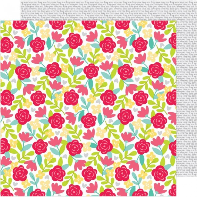 Papel Estampado Doble Cara 12x12 Love Notes Secret Admirer