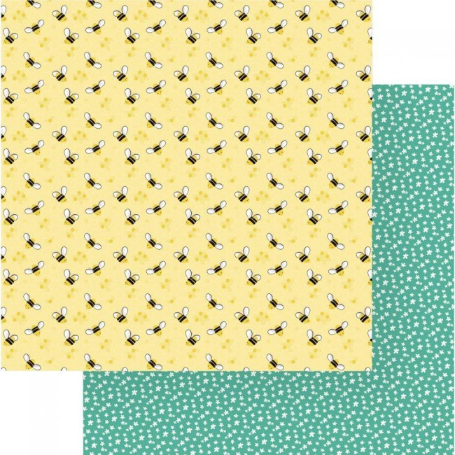 Papel Estampado Doble Cara 12x12 Tulla & Norbert Honey Bees