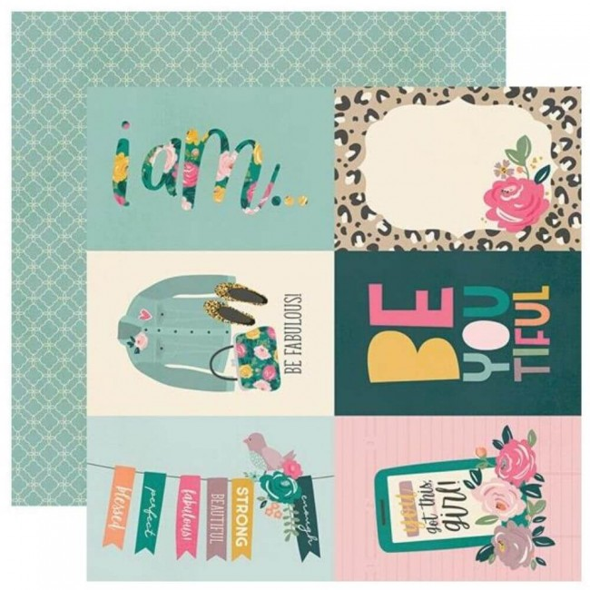 "Papel Estampado Doble Cara 12x12 I Am 2020 4""X6"" Elements"