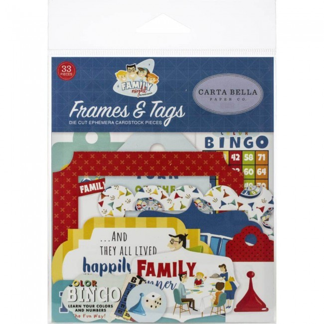 Die Cuts Family Night Frames & Tags