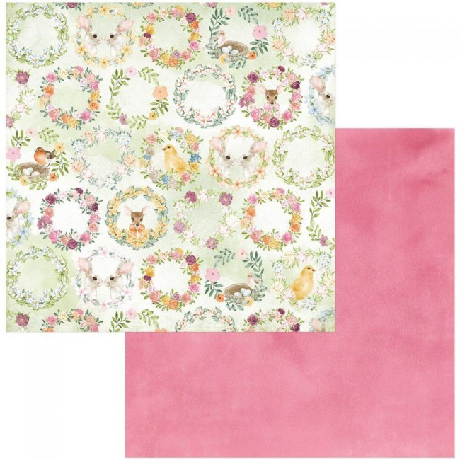 Papel Estampado Doble Cara 12x12 Garden Grove Happiness