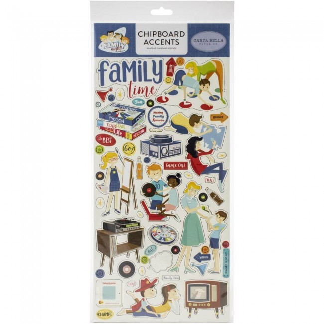 Chipboard 6x13 Family Night Accents