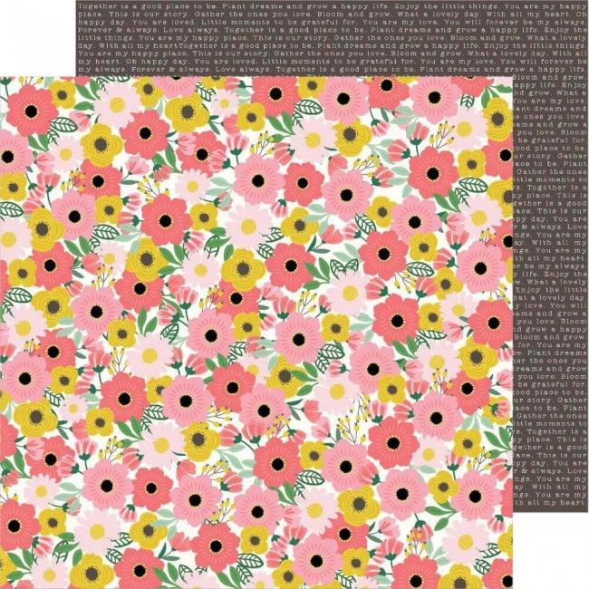 Papel Estampado Doble Cara 12x12 Lovely Moments Blooms