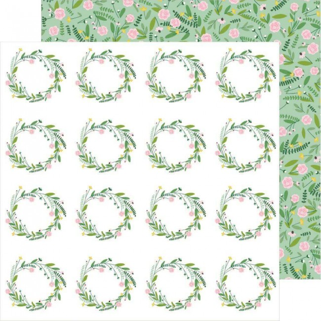 Papel Estampado Doble Cara 12x12 Lovely Moments Sprigs