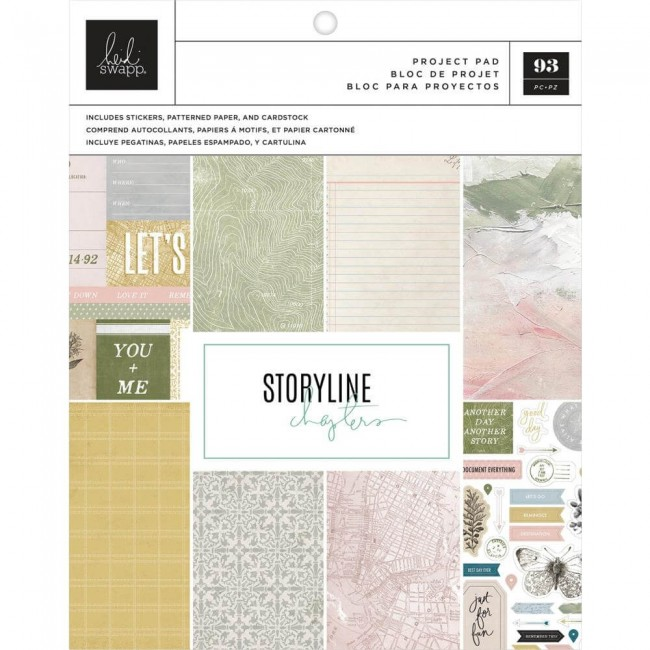 Stack Papeles Estampados Project Pad 7,5x9,5 Storyline The Scrapbooker
