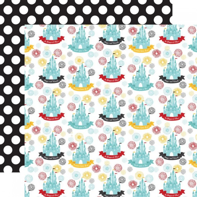 Papel Estampado Doble Cara 12x12 Remember The Magic Happiest Place