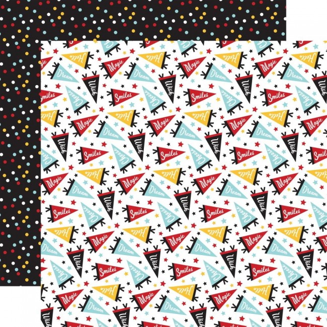 Papel Estampado Doble Cara 12x12 Remember The Magic Cheers