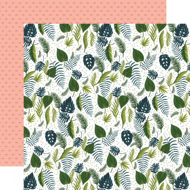 Papel Estampado Doble Cara 12x12 Plant Lady Leaves