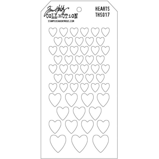 Stencil Tim Holtz Hearts Mask