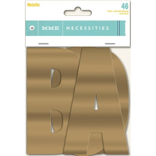 Die Cuts Necessities Monogram alphas Metallic