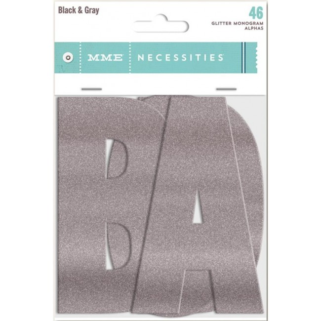 Die Cuts Necessities Monogram alphas Black & Grey