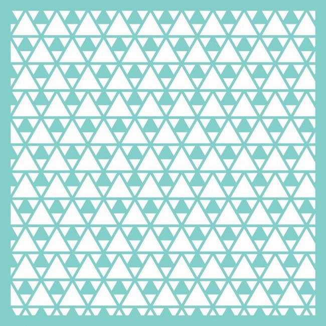 """Triangles 12""""x12"""" Template"""