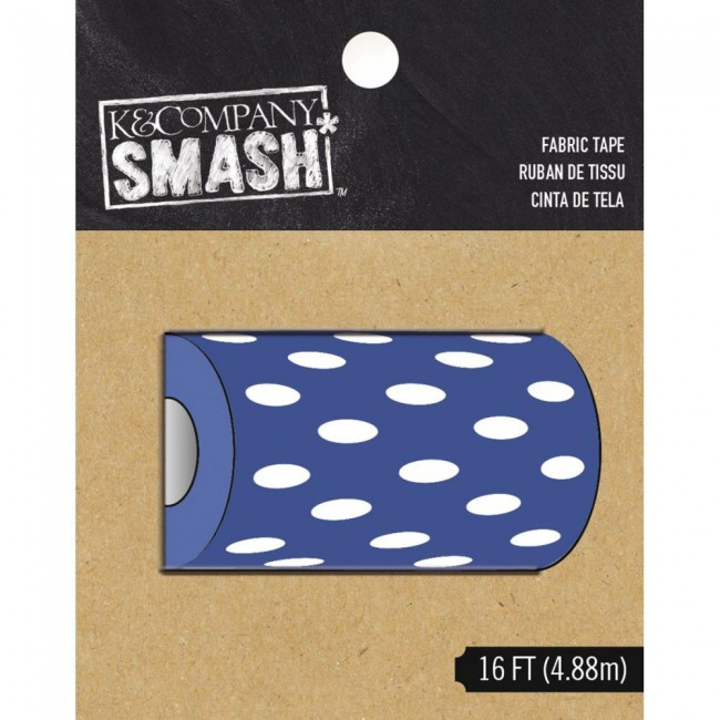 Fabric Tape Blue and White Dot