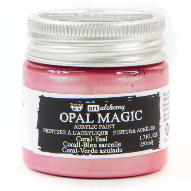 Pintura acrílica Opal Magic Art Alchemy Coral/Teal