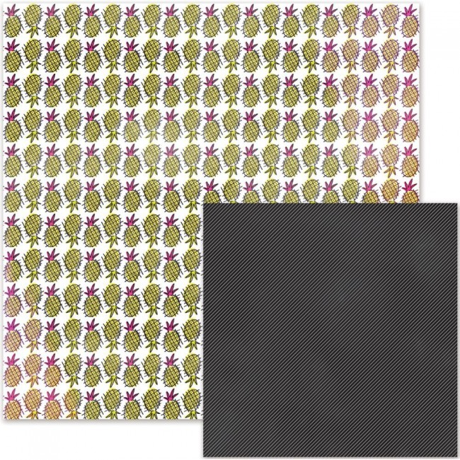 Papel estampado Doble cara 12x12-It Factor-Pineapple